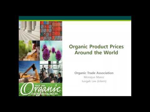 Organic Product Prices Around the World Webinar