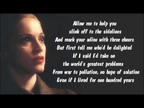 Madonna - Waltz For Eva And Che Karaoke / Instrumental with lyrics on screen