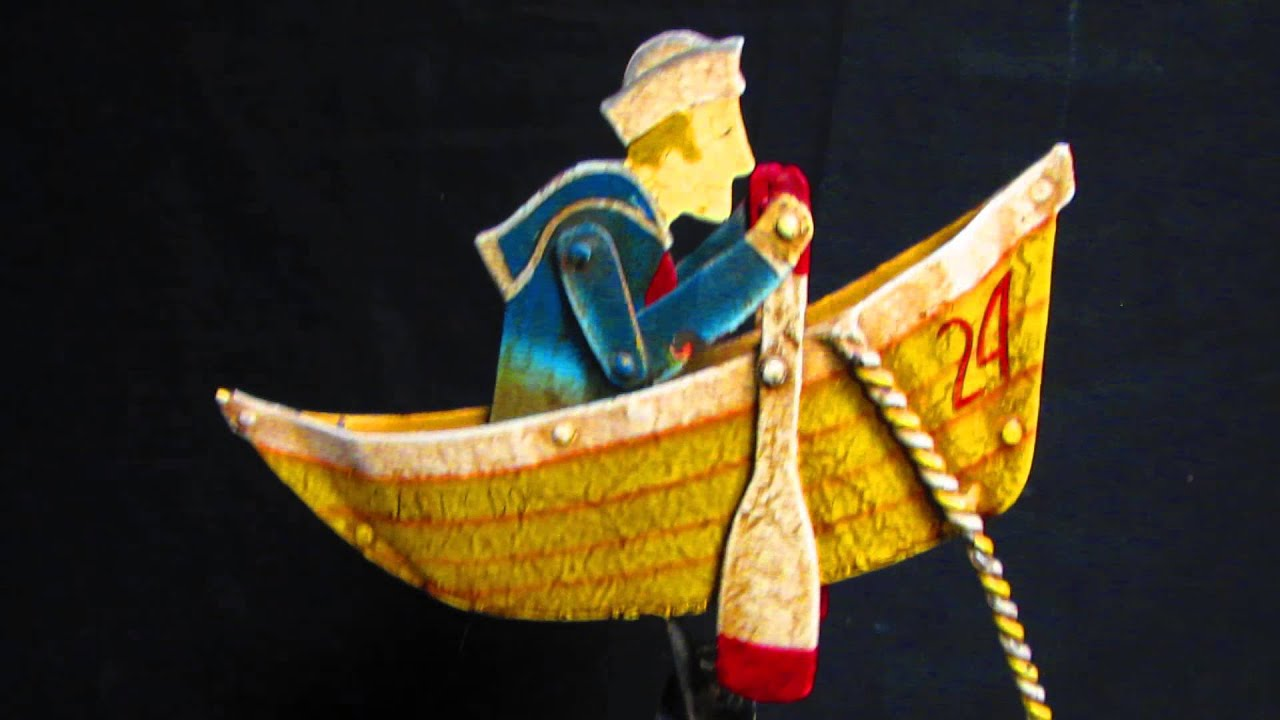 Antiqued Sailor Salty Dog Metal Teetter Totter, Sky Hook, Folk Art ...