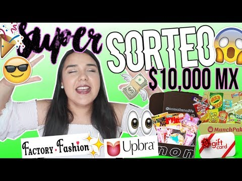 Download Youtube: SUPER SORTEO con 10 GANADORES! $10,000 MX en PREMIOS! | Sarai♥