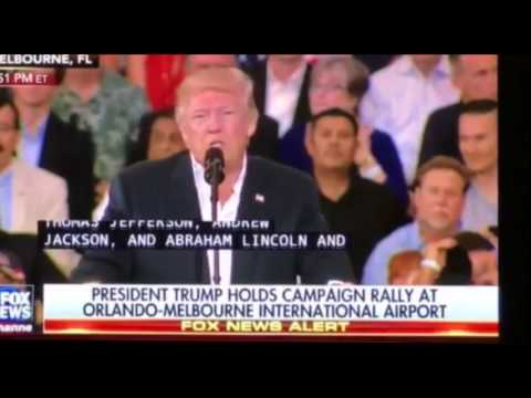 Trump Quotes Thomas Jefferson Bashing Media at Florida Rally
