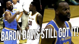 Baron Davis Goes AT Nick Young! Shows He Still Got HANDLES at Drew League