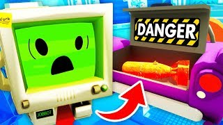 NEW Creating SECRET NUKE And DESTROYING JOB BOT (Job Simulator VR Funny Gameplay)