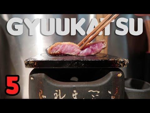 First time eating GYUUKATSU 🇯🇵