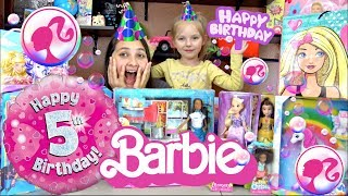 KAIA's 5th BIRTHDAY PRESENTS OPENING! BARBIE TOY SKIT! The TOYTASTIC Sisters! Hello DREAM HOUSE!
