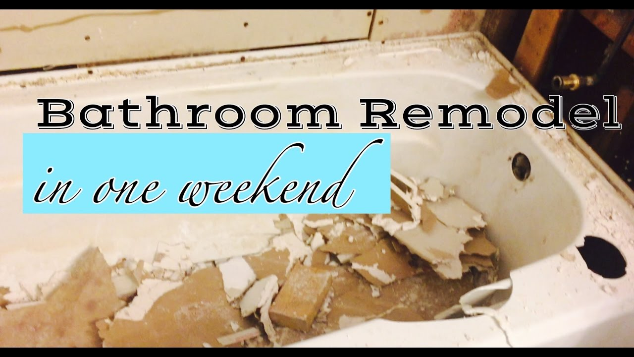 REMOVE AND REPLACE BATHTUB | DIY! - YouTube