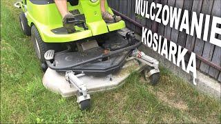 Koszenie bez zbierania trawy / mulczowanie kosiarką FD 450 przez firmę usługową FHU Załuccy