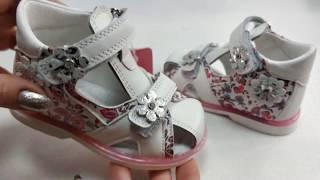 Детские босоножки сандалии сандали для девочек кожаные белые tom.m 21-26 4105