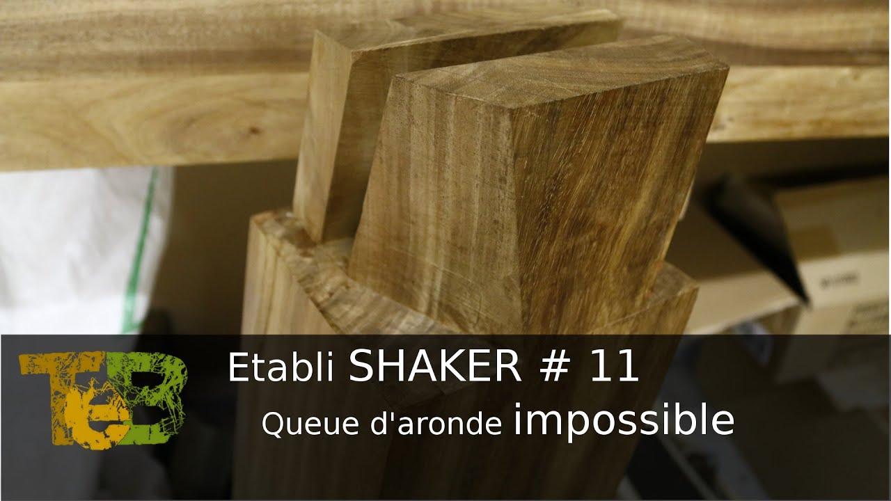 Travail du bois la main assemblage double queue d 39 aronde rising dovetails 11 youtube - Travail du bois pour debutant ...