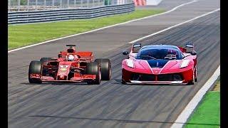 Ferrari F1 2018 vs Ferrari FXX K - Monza