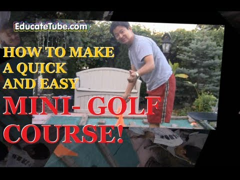 How Make An Easy Quick Cheap Mini Putt, Mini Golf Course, Miniature Golf At  The Backyard
