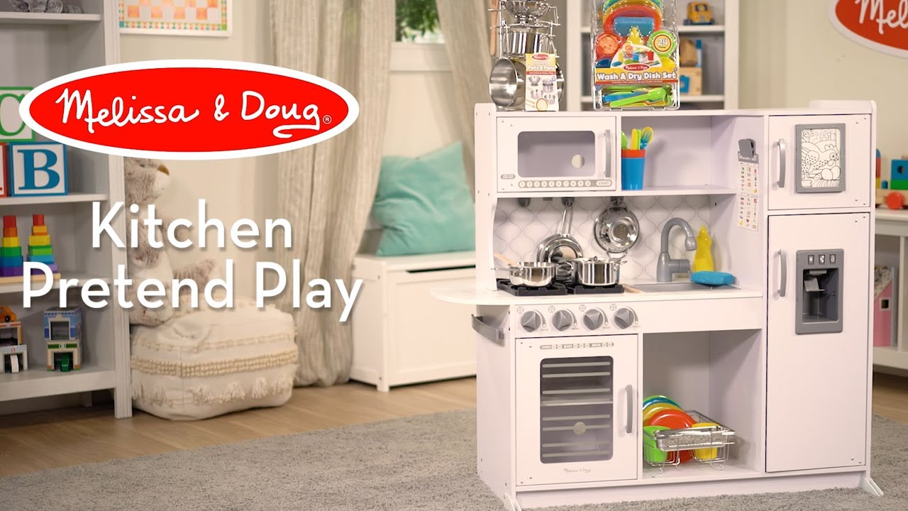 Melissa Doug White Chef S Kitchen Cloud Watch Countless Ways Kids Can Play