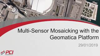 Multi Sensor Mosaicking with the Geomatica Platform