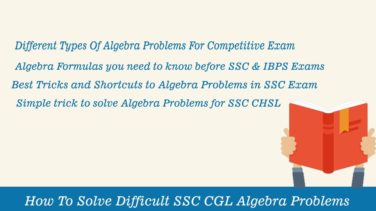 SSC Advanced Maths - Algebra Problems & Solution For Govt  Exams | SSC CGL  & Bank Exam Preparation