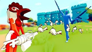 TABS - Chicken Minigun vs Trump's Wall in Totally Accurate Battle Simulator!