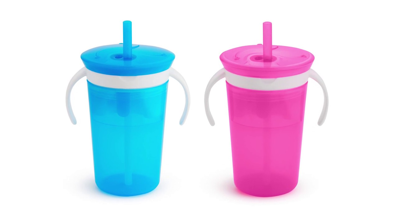 2-in-1 Snack Catcher and Spill-Proof Cup Munchkin SnackCatch /& Sip 266 ml//9 oz Pink