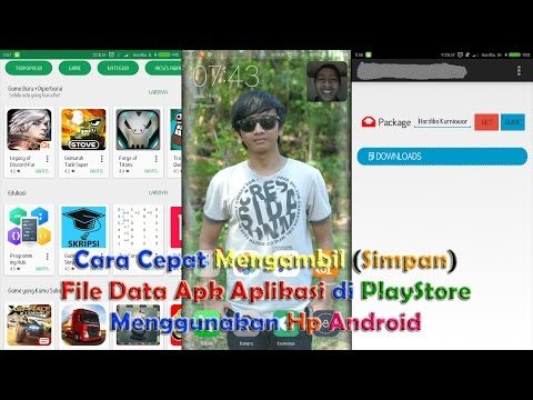 How to Quickly Download (Save) File Data APK in the Play Store Application Using Hp Android