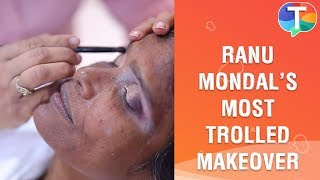 Watch Ranu Mondal's makeup video - Behind The Scenes