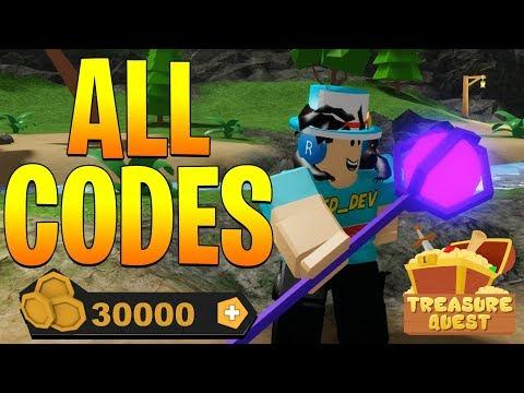 All Secret Codes In Treasure Quest Roblox Youtube