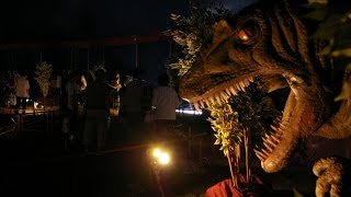 The dinosaur which emerged in Fukuyama, Japan.