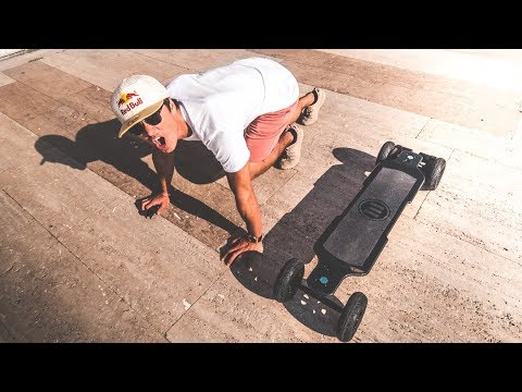 Thumbnail: TRYING THE FASTEST ELECTRIC SKATEBOARD! Boosted Board KILLER!! | VLOG² 95