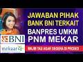 Jawaban Pihak Bank BNI Terkait Banpres UMKM PNM Mekar