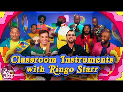 Jodi Stewart - Ringo and Jimmy Fallon Play Yellow Submarine on Classroom Instruments