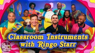 "Ringo Starr, Jimmy Fallon & The Roots Sing ""Yellow Submarine"" (Classroom Instruments) thumbnail"