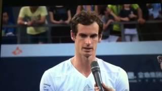 Murray vs Robredo Shenzhen final interview