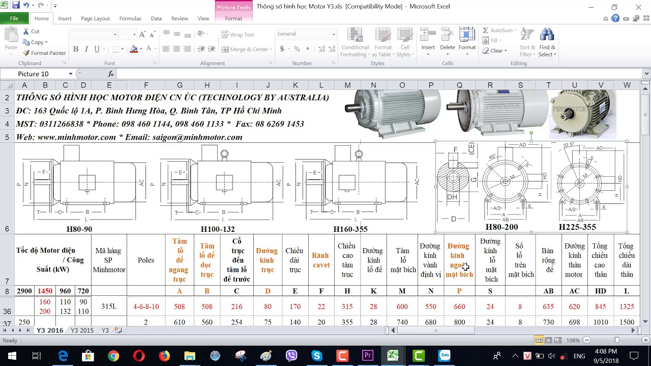 Bản vẽ kỹ thuật động cơ điện 160 kw 220 HP 1400-1500 vòng phút, MINHMOTOR 0968140191.