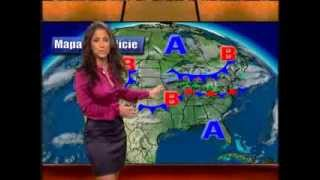 Jackie Guerrido in Tight Purple Satin Blouse and Pencil Skirt