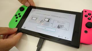 「Nintendo Switch スプラトゥーン2セット」のネオングリーン&ネオンピンクのJoy-Conをくっつける