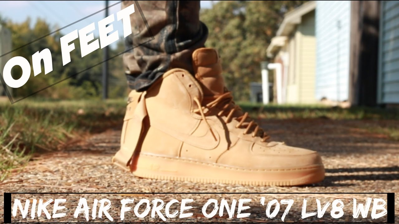 Nike Air Force 1 High 07 Lv8 Wbflax On Feet Youtube