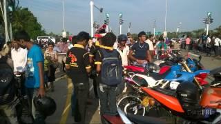Srilankan Bike Stunt @ Matara Highway Opening - Official Stunt Team  (junk Video)