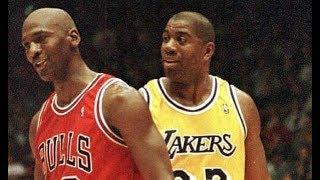 1996 NBA Season | Chicago Bulls @Los Angeles Lakers | Jordan vs Magic Last game