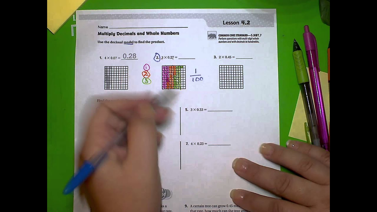 5th Go Math! Unit 1, Lesson 4 2 - YouTube