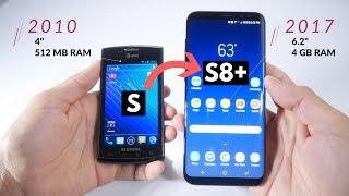 Samsung Galaxy S8+  vs Primer Galaxy S  Comparación de 7 años