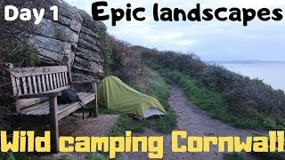 Epic Cornwall Wild camping Mousehole Penzance Sennen cove Lands end Jack wolfskin gossamer tent SWCP