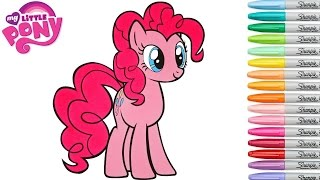 My Little Pony Coloring Book Pinkie Pie MLP Video Colouring Pages Episode