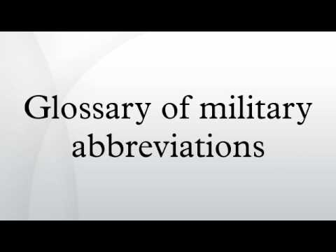 Glossary of military abbreviations
