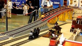 Lego train TGV 10233 - horizon express running - Model Rail 2014 - crash TGV