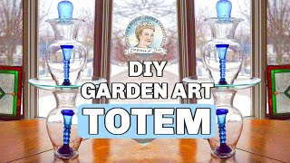 (Part 1/2) How To Make a Glass Garden Art Totem and Bird Bath