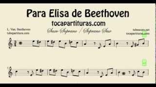 Fur Elise Easy Sheet Music for Soprano Sax Para Elisa Partitura de Soprano Sax Fácil