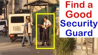 Pinoy SOCIAL EXPERIMENT: Find a Good Security Guard