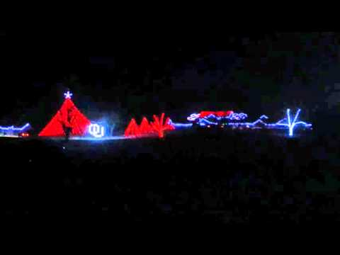 Christmas light show, Norman Oklahoma. Boomer Sooner and Thunder Up!!!