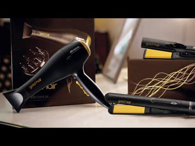 ⭐ GOLD HAIR ARIETE: PIASTRA PROFESSIONALE PER CAPELLI LISCI E MOSSI (BOCCOLI, ONDE, EFFETTO LISCIO…)