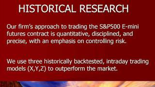 EMINI DAY TRADING - HISTORICAL RESEARCH - ONLINE S&P FUTURES TRADING - EMINI TRADING STRATEGIES