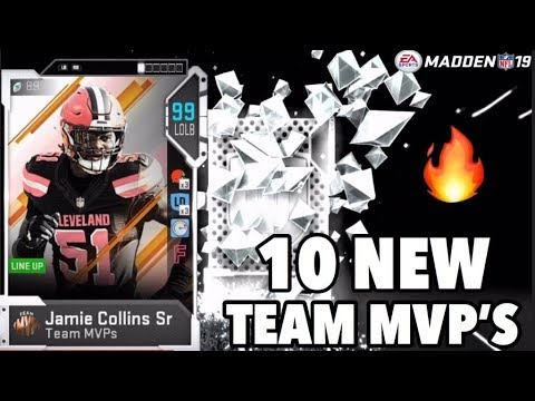 1O NEW MVPS! JAMIE COLLINS, DAVID JOHNSON AND MORE! MADDEN 19 ULTIMATE TEAM PACK OPENING