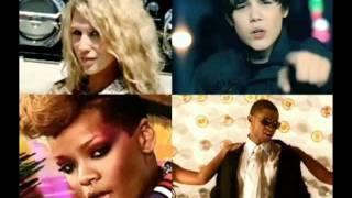 Justin Bieber, Kesha, Usher, Rihanna -  Baby, Tik-tak, OMG, Rude boy 2011 new.wmv