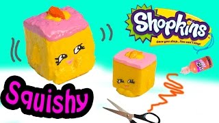 Diy Rare Shopkins Season 2 Carrie Carrot Cake Squishy Toy Craft Make & Do It Your Self How To Video
